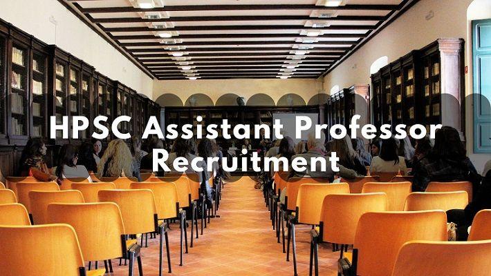 HPSC Assistant Professor Recruitment