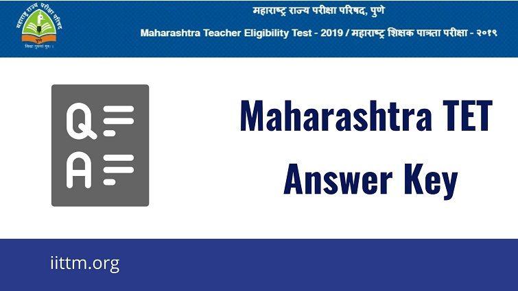 Maharashtra TET Answer Key