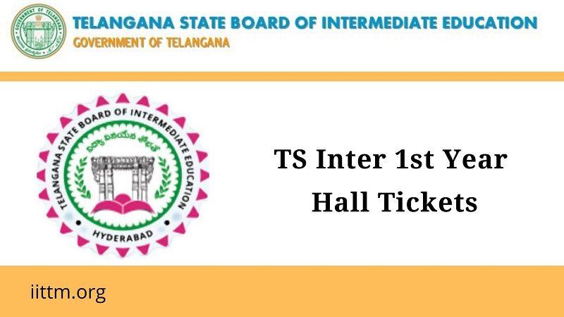 TS Inter 1st Year Hall Tickets