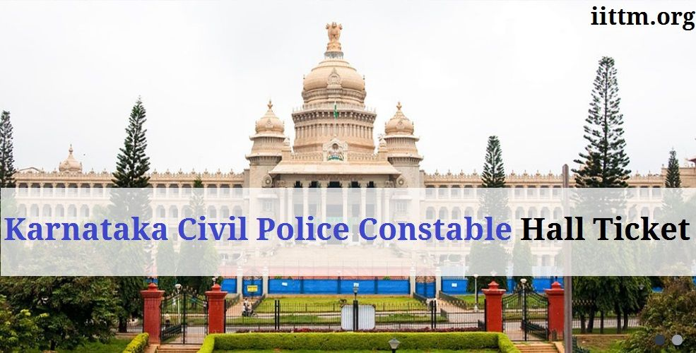 Karnataka Civil Police Constable Hall Ticket