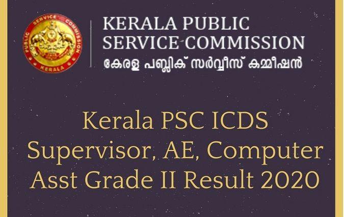 Kerala PSC ICDS Supervisor Result