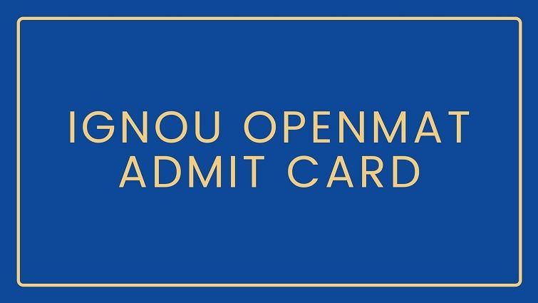 IGNOU MBA 2020 Hall Ticket