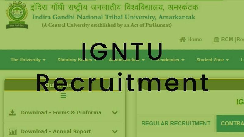 IGNTU Recruitment