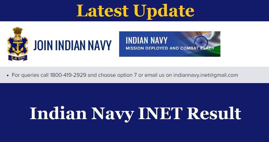 Indian Navy INET Result