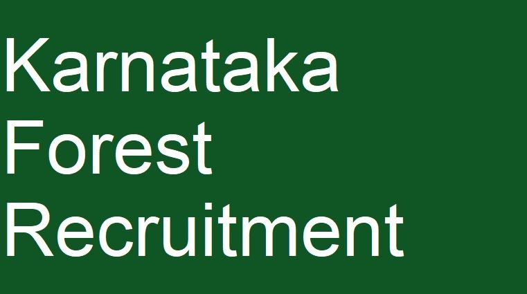 Karnataka Forest Guard Recruitment - KFD Forest Dept