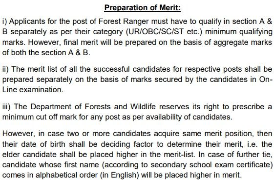 Delhi Forest Staff Preparation of Merit