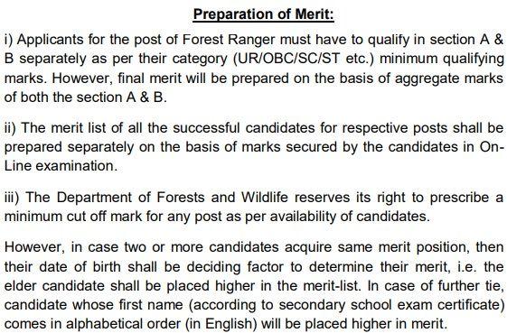 Delhi Forest Staff Preparation of Merit