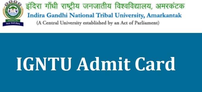 IGNTU Admit Card