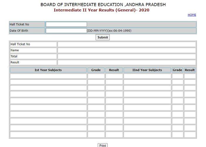 AP Inter 2nd year Results 2020 Manabadi bieap.gov.in