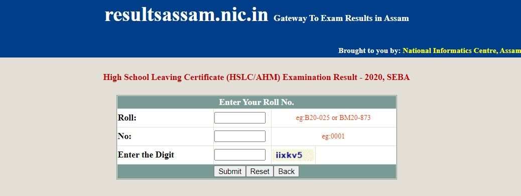 Assam HSLC Result 2020 Released Check Online by Roll Number
