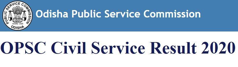 OPSC Civil Service Result 2020