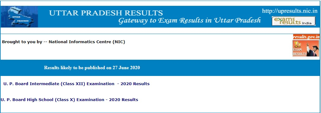 UP Board Result 2020 10th & 12th Class