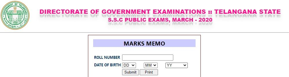 bse.telangana.gov.in 2020 SSC Results
