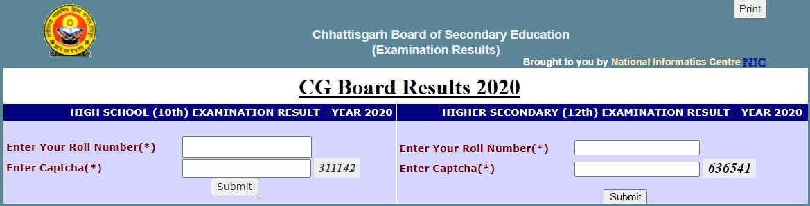 results.cg.nic.in 2020