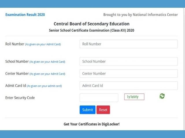 Www Cbse Nic In 12th Result 2020 Link Arts Commerce Science At Www Cbseresults Nic In