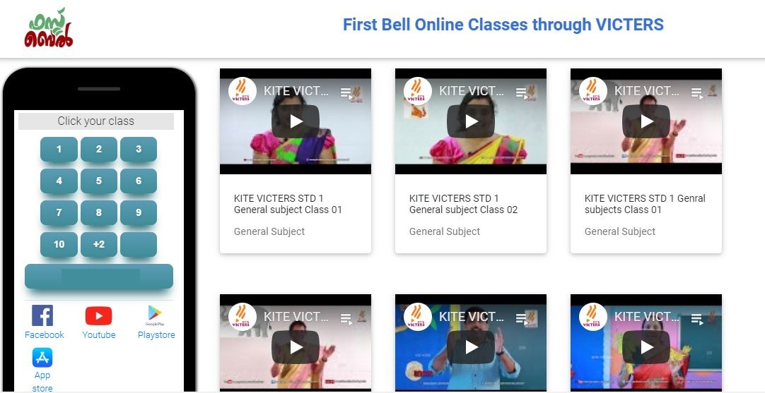 First Bell Online Classes Through Victers