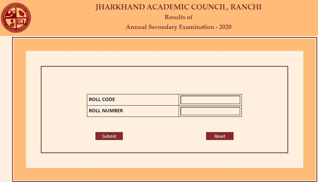 JAC 10th Result 2020 Roll Code Roll Number