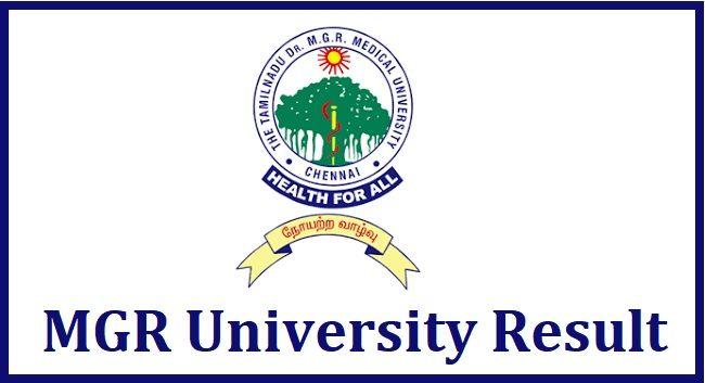 MGR university Result 2020