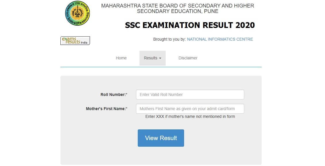 Mahresult.nic.in 2020 SSC 10th