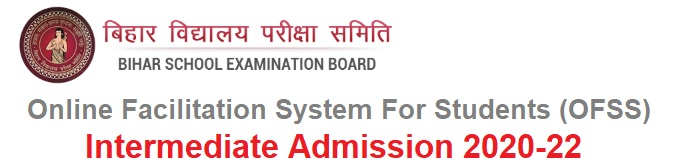 OFSS BSEB Intermediate (11th) Admission 2020