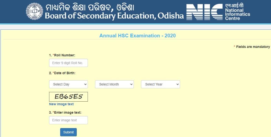 Odisha Annual HSC Result 2020