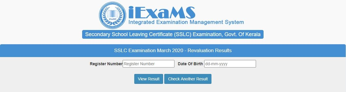 SSLC Revaluation Result 2020
