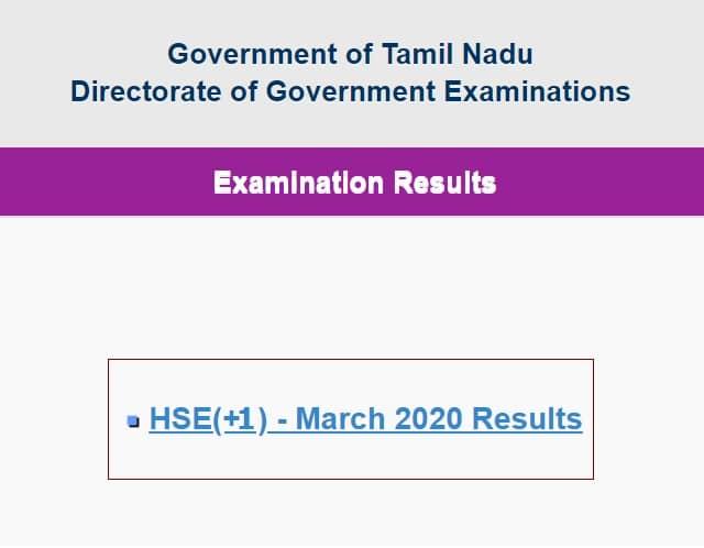 TN 11th Result 2020