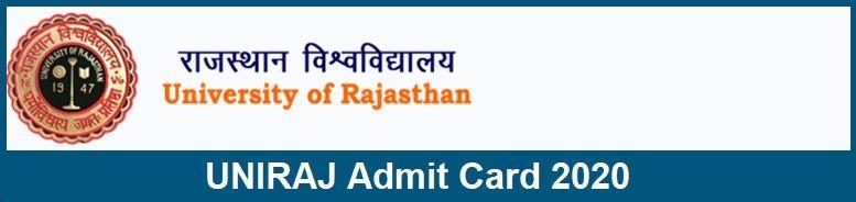UNIRAJ Admit Card 2020