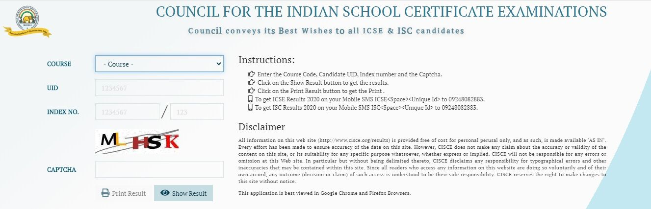 www.CISCE.org Result 2020