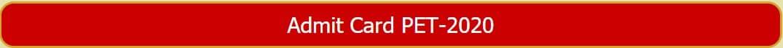 BHU PET Admit Card 2020