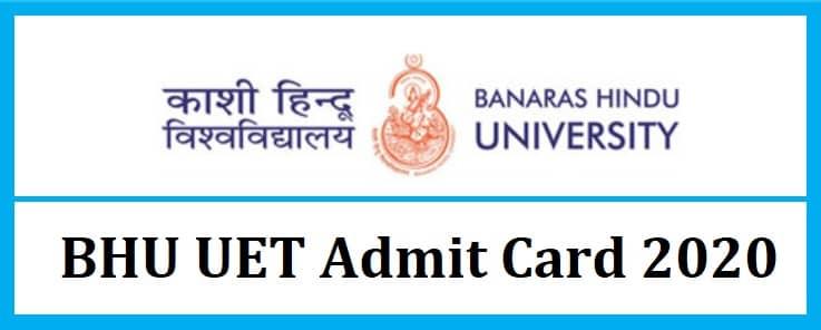 BHU UET Admit Card 2020