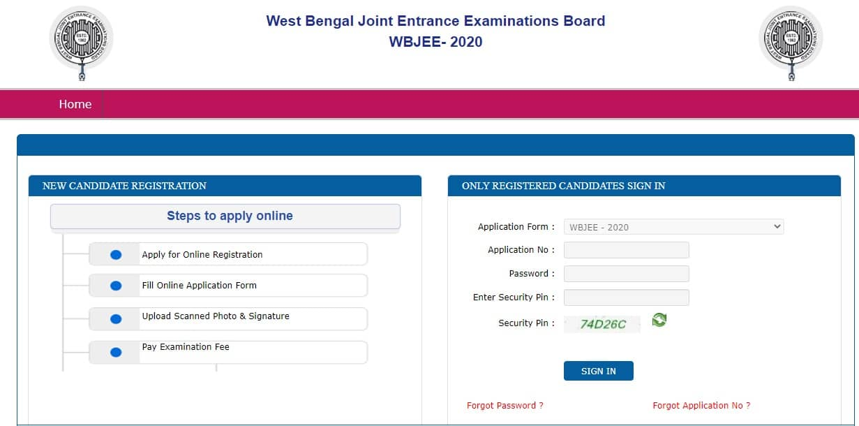WBJEE - 2020 Result Rank Card