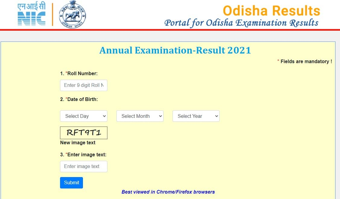 orissaresults.nic.in 2021 HSC 10th matric result