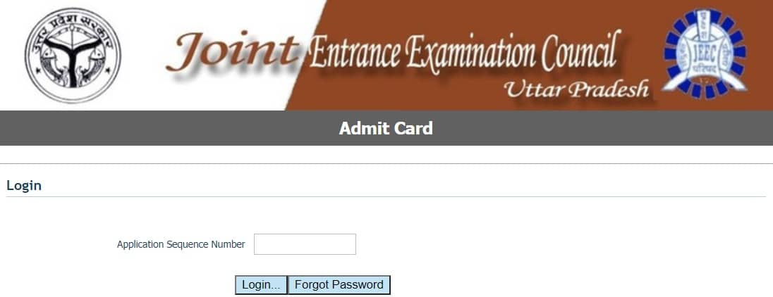 JEECUP UP Polytechnic Admit Card 2020