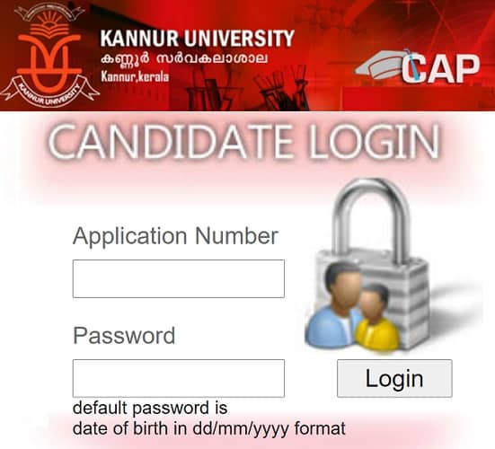 Kannur University UG CAP First Allotment Result 2020