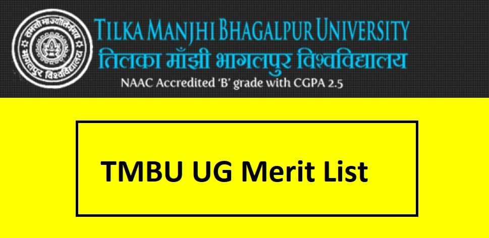 TMBU UG Merit List 2020 First Second Third