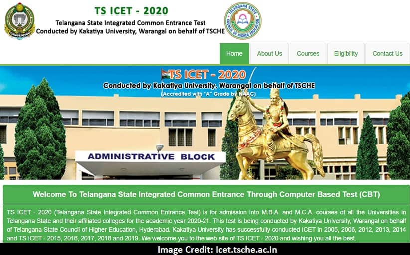 TS ICET 2020 Hall Ticket icet.tsche.ac.in