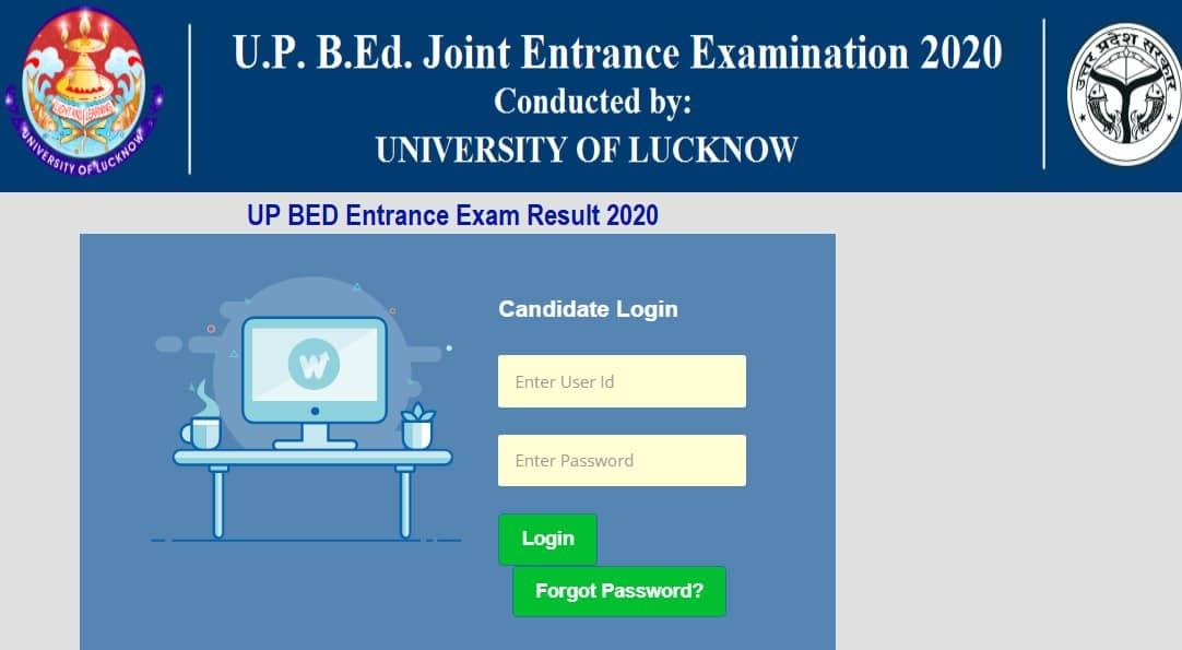 UP BED Entrance Exam Result 2020 - www.lkouniv.ac.in