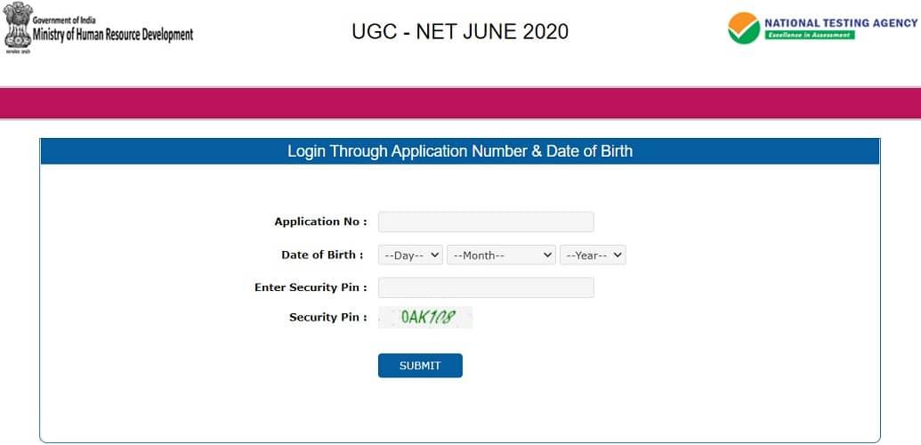 www.ugcnet.nta.nic.in 2020 Admit Card