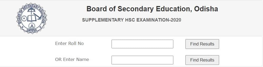 Odisha HSC Supplementary Result 2020 bseodisha.ac.in