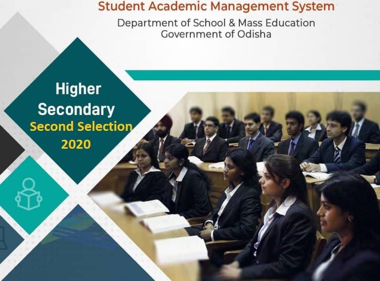samsodisha.gov.in +2 Higher Secondary Second Selection 2020 Merit List