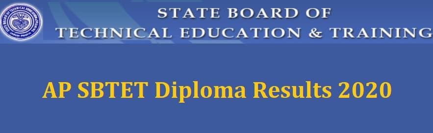 AP SBTET Diploma Results 2020