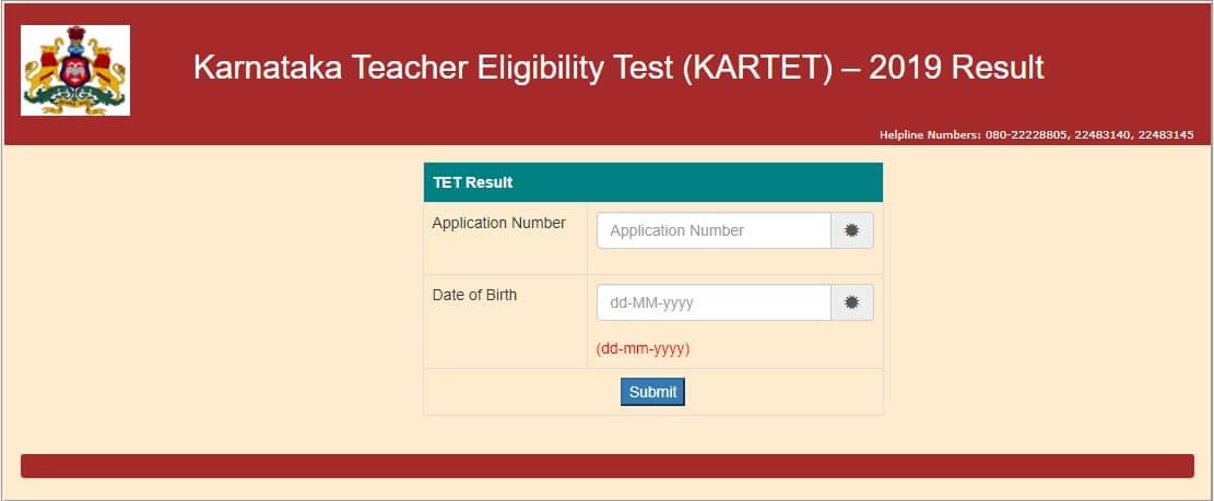 Karnataka TET Result 2020