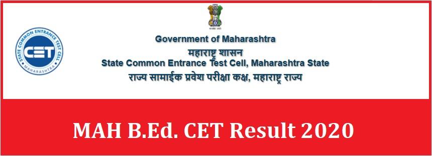 MAH B.Ed. CET Result 2020