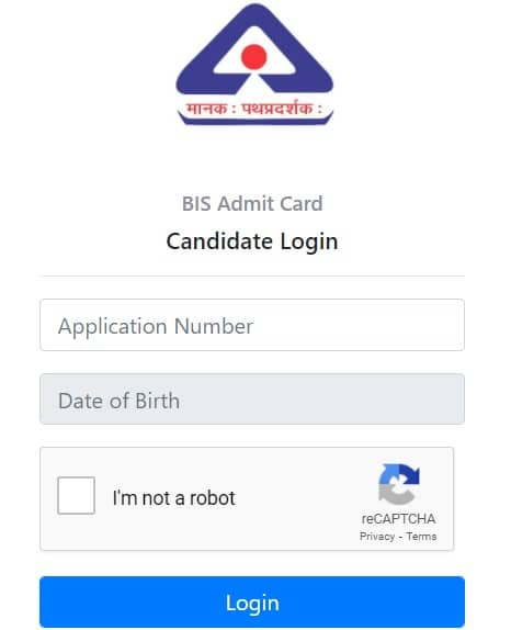 BIS Admit Card Download
