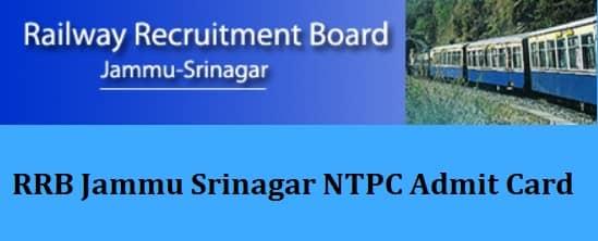 RRB Jammu Srinagar NTPC Admit Card