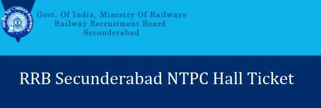 RRB Secunderabad NTPC Admit Card