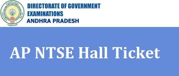 AP NTSE Hall Ticket