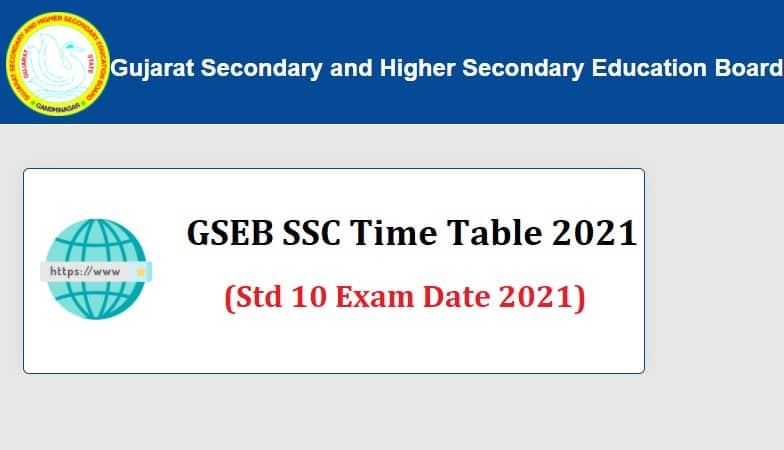 GSEB SSC Time Table 2021