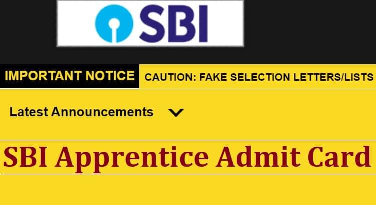 SBI Apprentice Admit Card